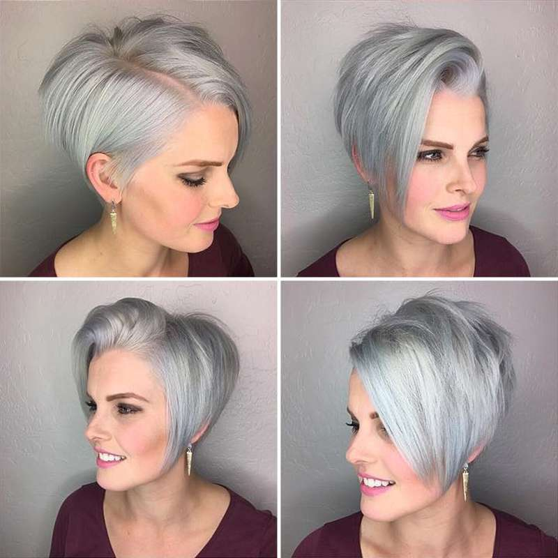 Short Hairstyle Grey 2017 - 5