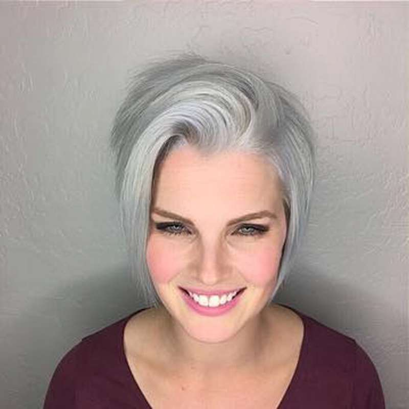 Short Hairstyle Grey 2017 - 6