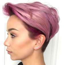 Short Purple Hairstyles 2017 - 2