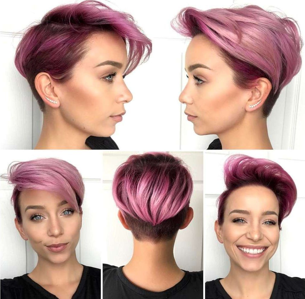 Short Purple Hairstyles 2017 - 7