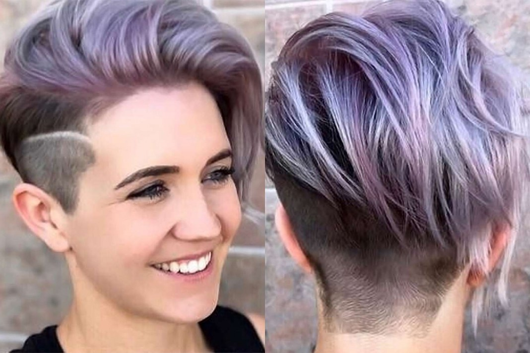 Hair Color Ideas For Short Hair 2017: 2017 Short Hairstyles Purple