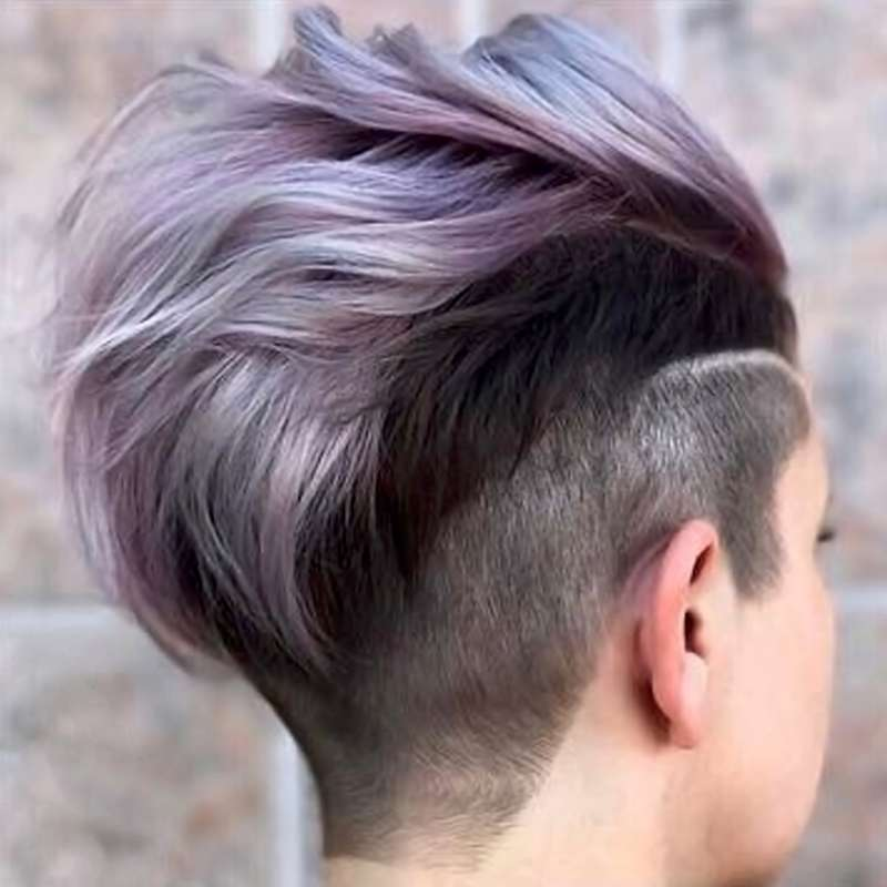 2017 Short Hairstyles Purple - 4