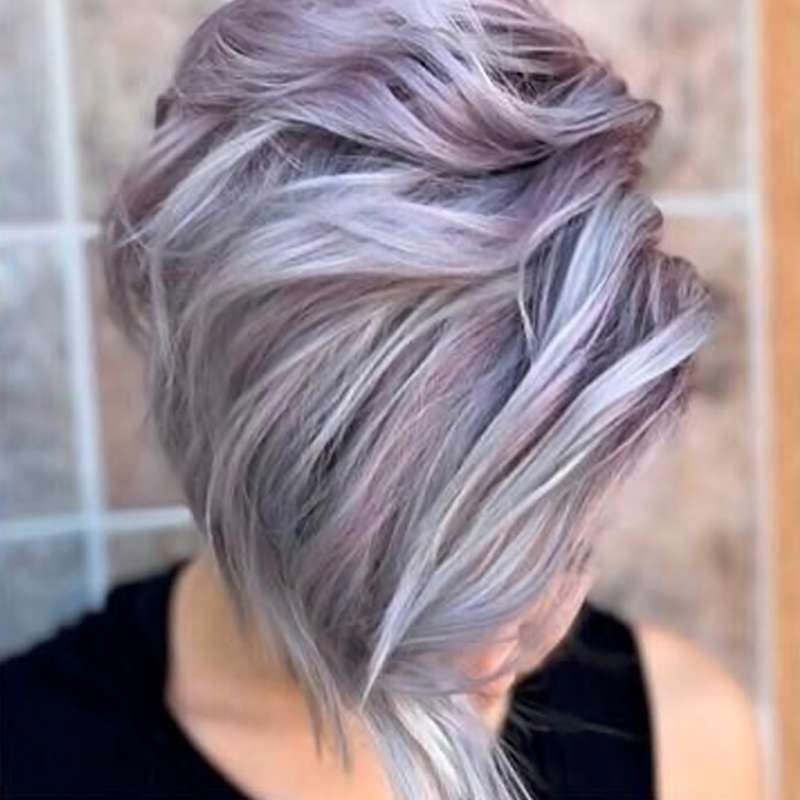 2017 Short Hairstyles Purple - 5