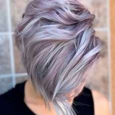 2017 Short Hairstyles Purple - 5