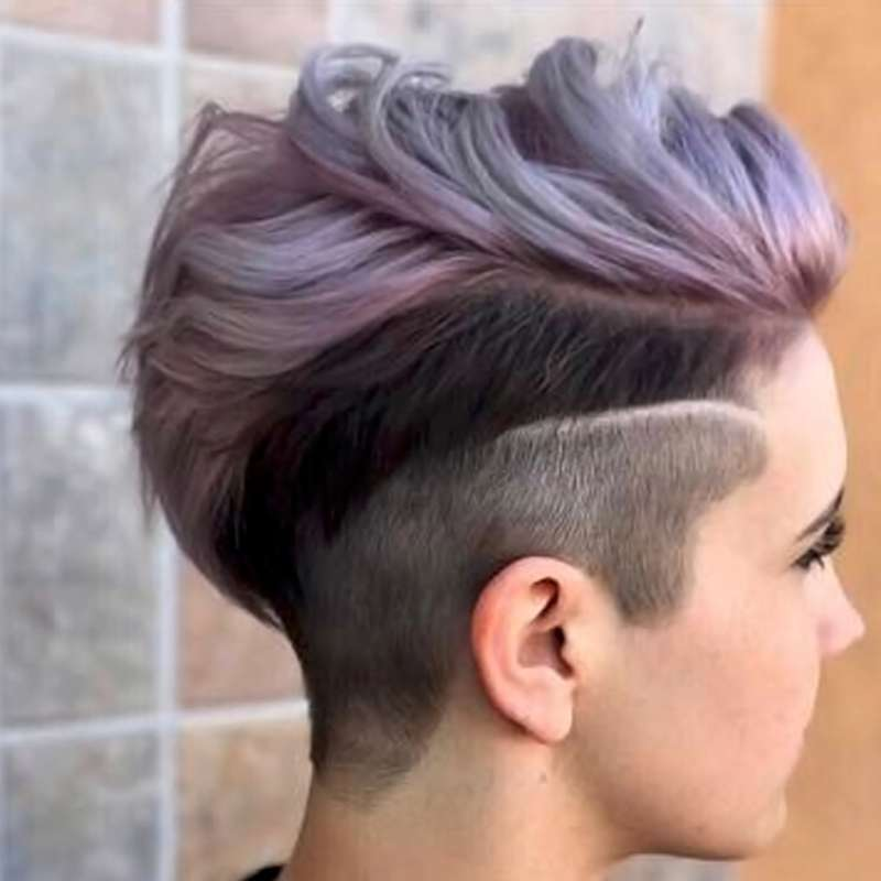 2017 Short Hairstyles Purple - 6