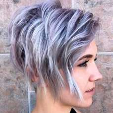 2017 Short Hairstyles Purple - 9
