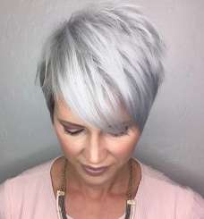 Short Hairstyle Grey Hair - 2