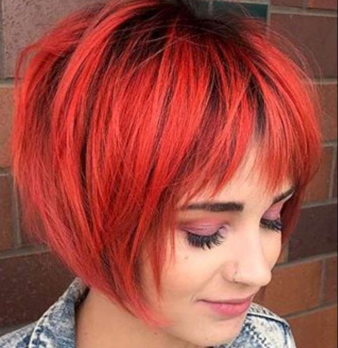 Short Hairstyles Red And Black - 2