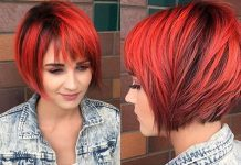 Short Hairstyles Red And Black