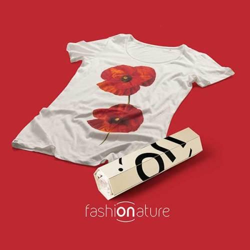 Women's Papavero White T-Shirt - OEKO-TEX Standard 100 tessuto Ecologico,