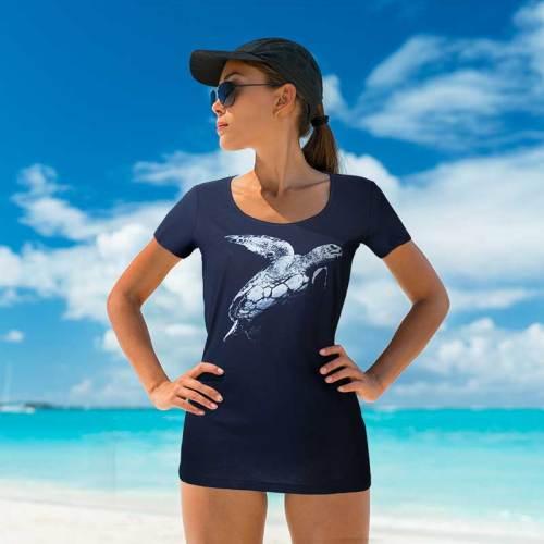 Women's Caretta Caretta turtle T-Shirt, la maglietta con la tartaruga