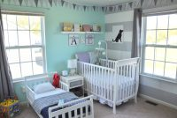 Shared Boy Girl Toddler and Nursery Room - FashionAveMom