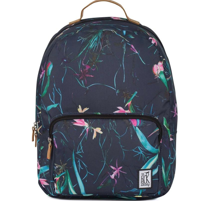 THE PACK SOCIETY Σακίδιο Classic Backpack Dark Blue Jungle Allover TPS184CPR702.75318