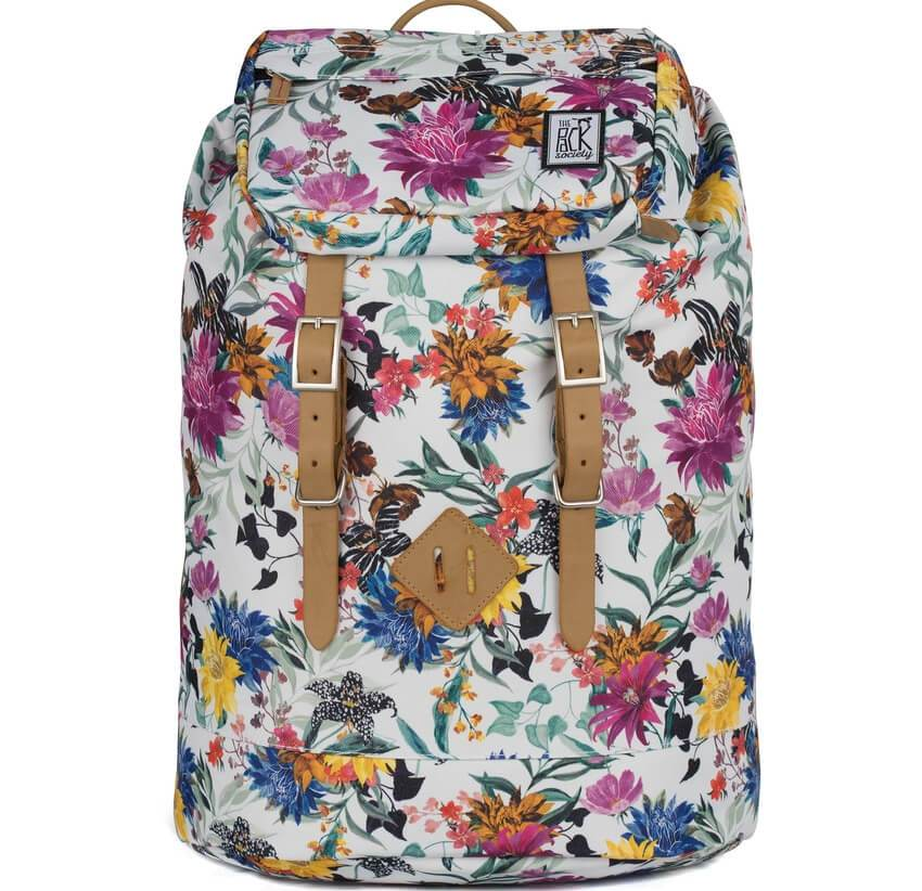 THE PACK SOCIETY Σακίδιο Premium Backpack Multicolor Flower Allover TPS184CPR703.91318