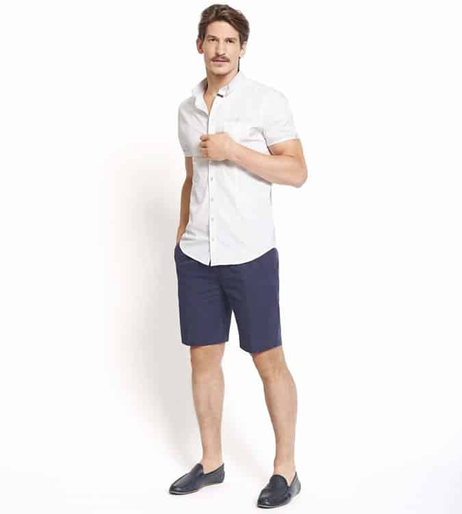Men's Go-To Outfit Combinations - Short-Sleeved Shirt With Shorts