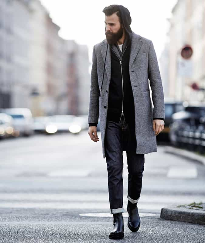 Men's Selvedge Raw Jeans Streetwear Outfit Inspiration