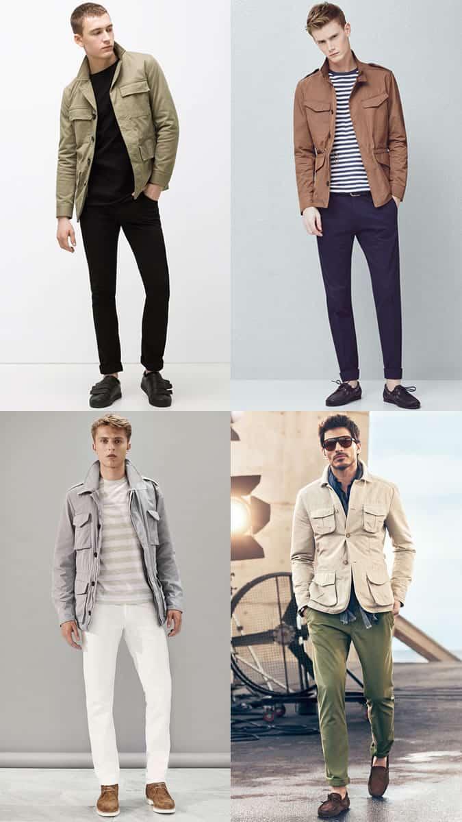 Men's Field/Safari Jackets Worn Casually - Fashion Outfit Inspiration Lookbook