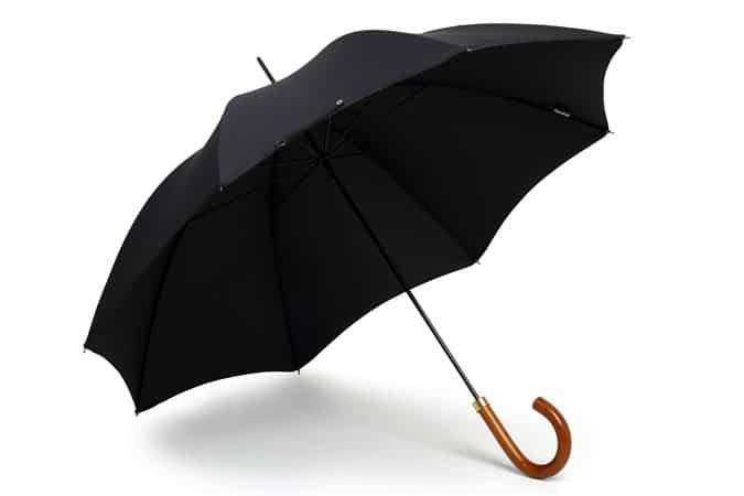 London Umbrella with Malacca Cane Crook