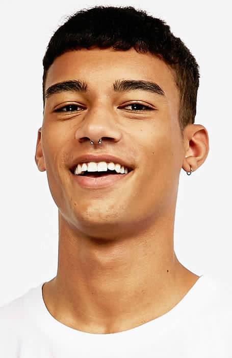 Men's Cropped Fringe Hairstyle