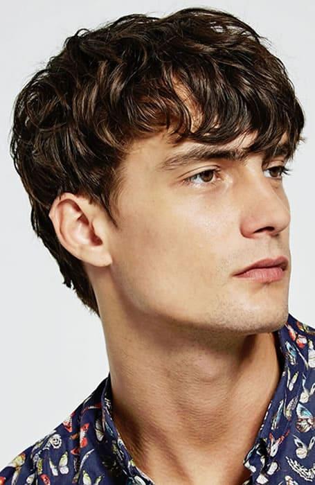 Men's Textured Fringe Haircut