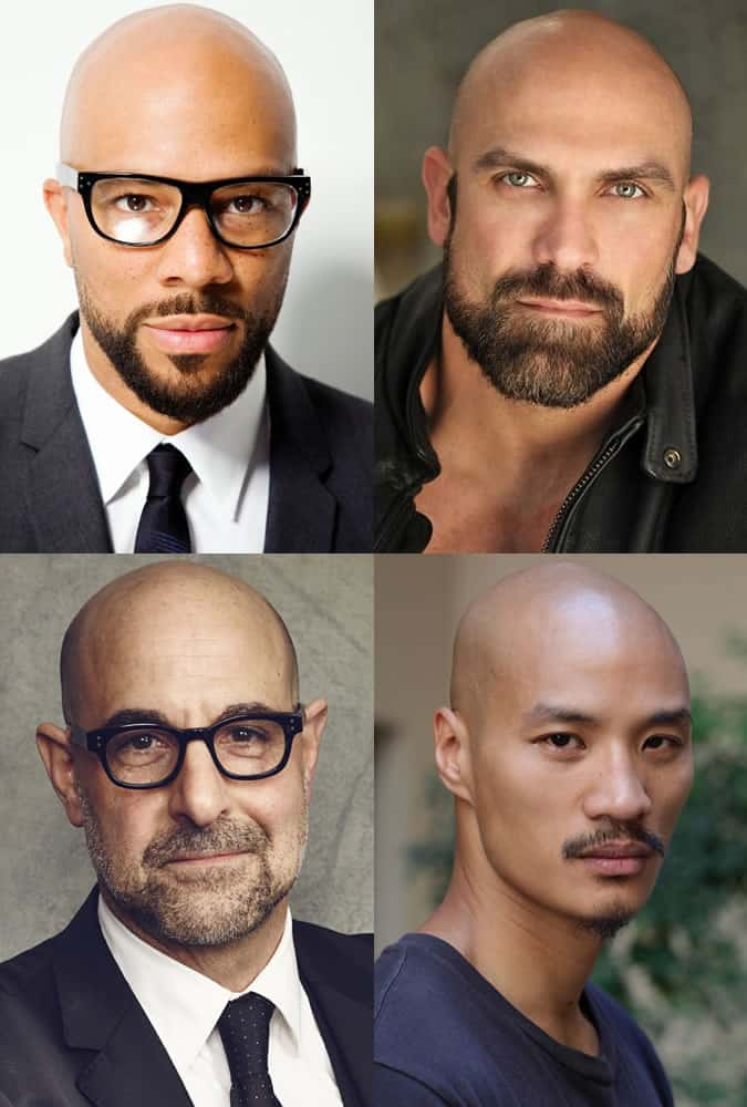 Bald Men With Beards or Facial Hair