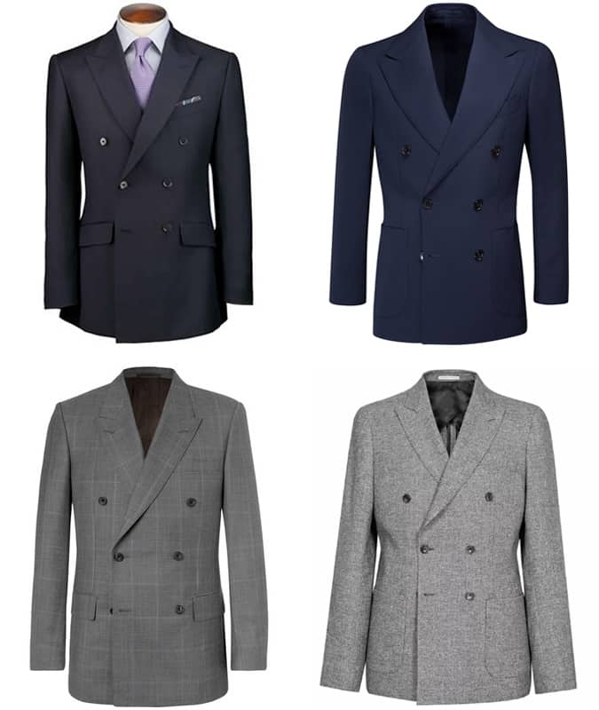 Men's Double-Breasted Suits