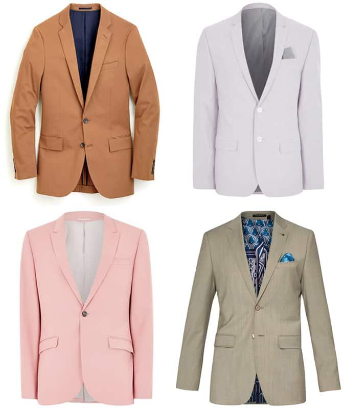 Men's Bold Coloured Suits