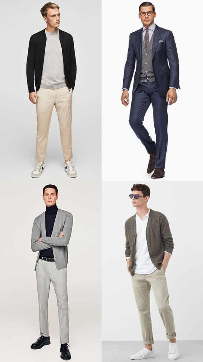 light gauge cardigan styles for men