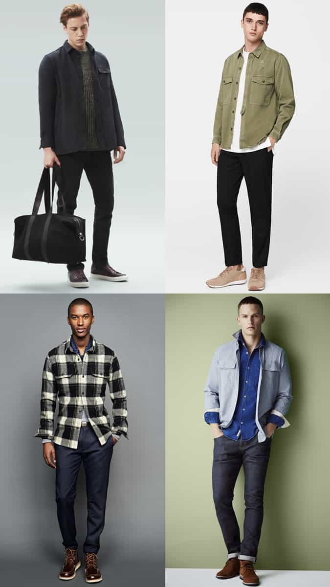 autumn overshirt styles for men