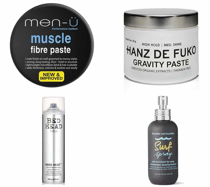 styling products for a modern faux hawk hairstyle