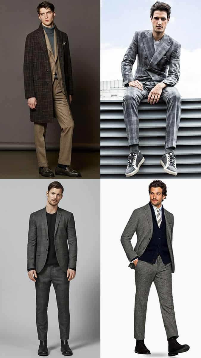 How to wear men's classic wool heritage suits in herringbone and houndstooth