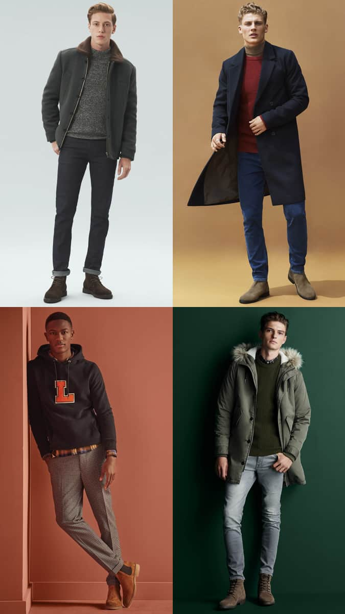 Men's Suede Boots Outfit Inspiration Lookbook For Autumn/Winter 2017