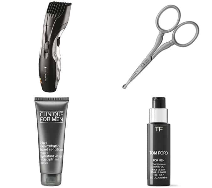 Men's beard grooming tools