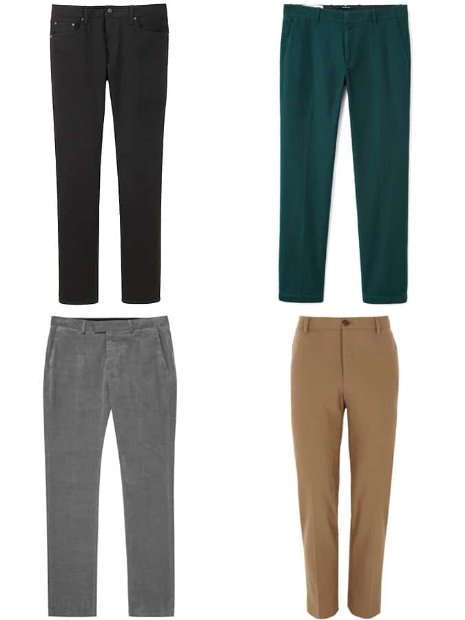 Slim-fitting trousers, chinos and jeans for men - winter 2017