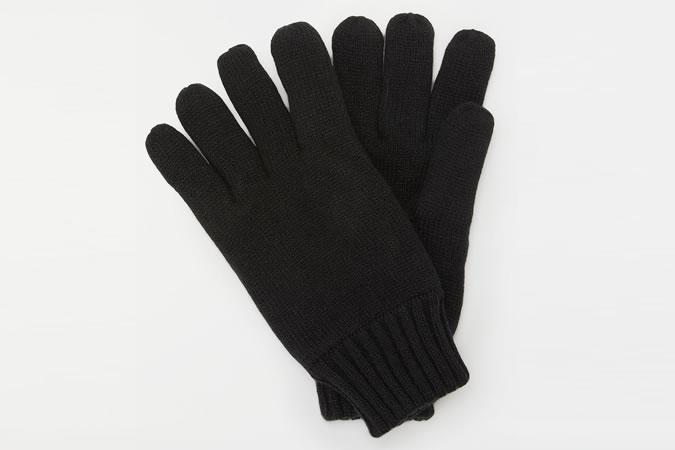 John Lewis & Partners Fleece Lined Gloves, Black