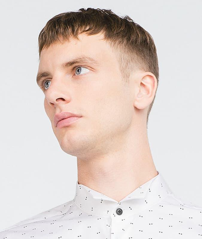 Drop Fade Haircut With Short Hair