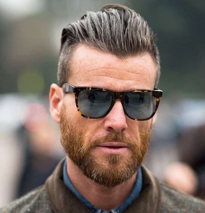 the Slicked-Back Undercut hairstyle for men with receding hair