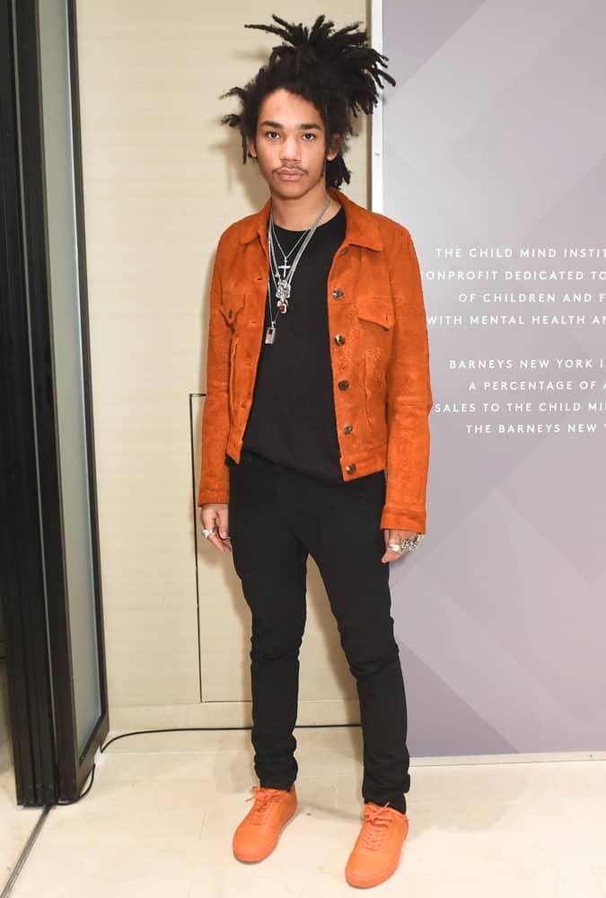 Luka Sabbat Wearing An Orange Jacket