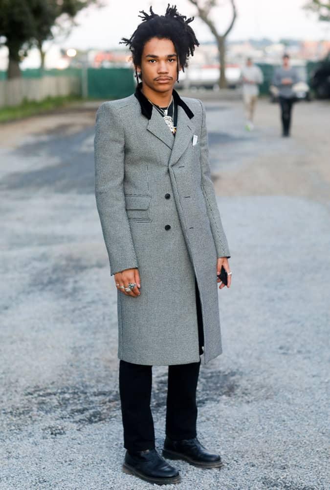 Luka Sabbat Wearing An Overcoat
