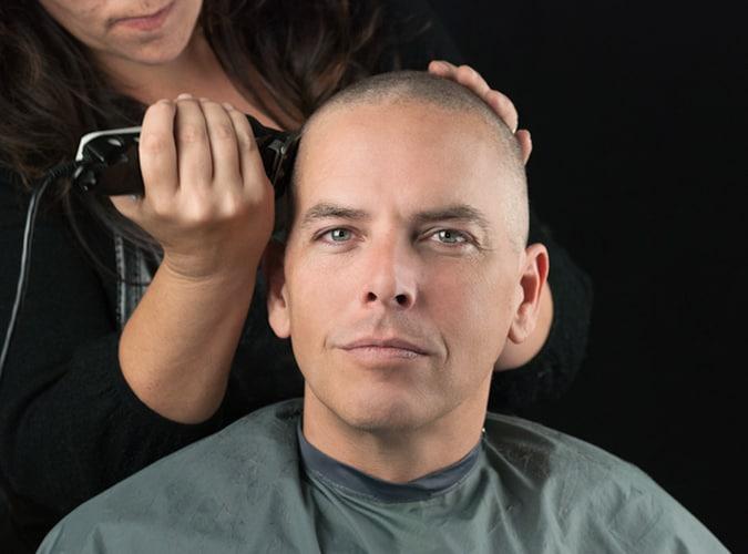 Shaving hair