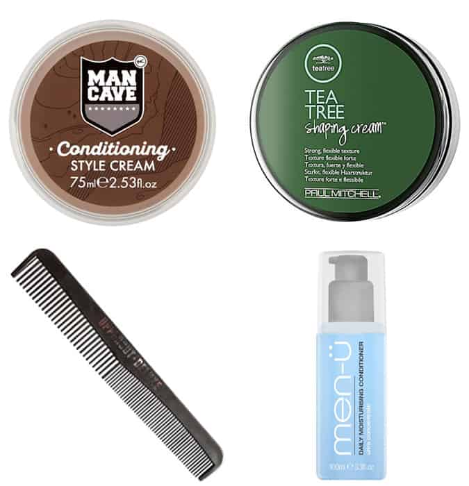 Hair products for a feather cut