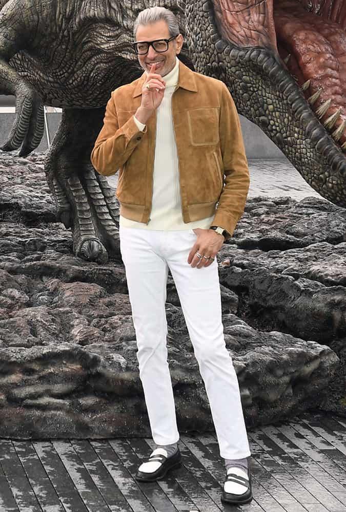 Jeff Goldblum Suede Jacket