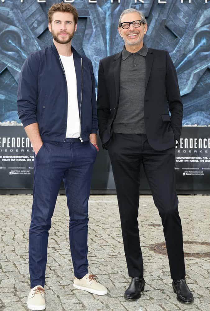 Jeff Goldblum And Liam Hemsworth