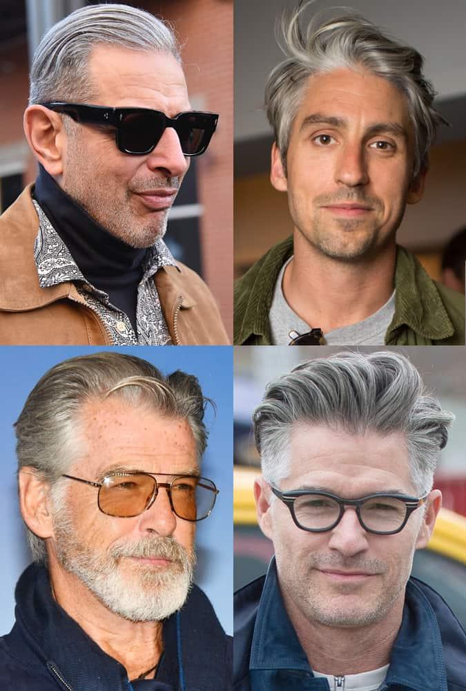 Celebrity Medium Length Grey Hairstyles