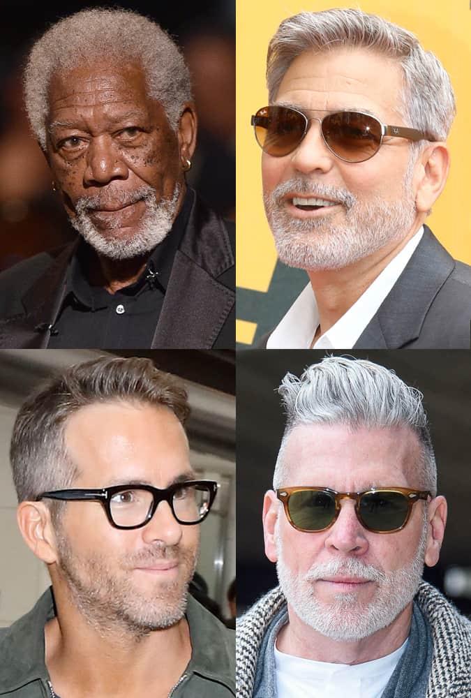 Celebrity Short Length Grey Hairstyles