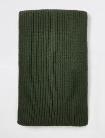 River Island Khaki Green Rib Knitted Scarf