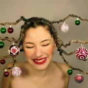 christmas hair style fashion