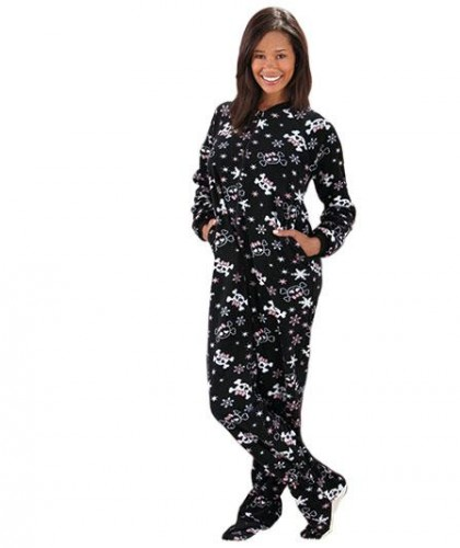 Plus Size Footed Pajamas Women  Fashion Belief