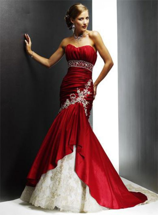 Image result for pictures of unique wedding dresses with color