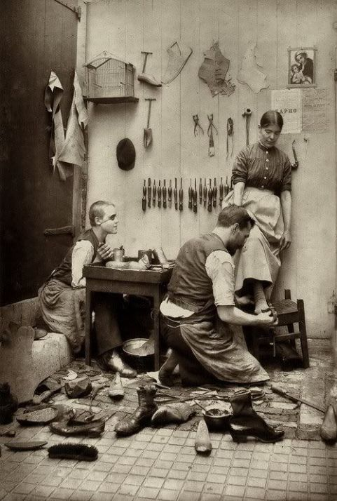 The shoemaker, perhaps 1870